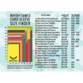 MayDay kártyavédő fólia méretek