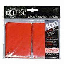 Kártyavédő tok - (100 db) Piros - 66 mm x 91 mm - Eclipse