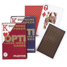 Kártya - OPTI Piatnik póker kártya (1*55 lap) - Piros
