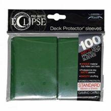 Kártyavédő tok - (100 db) Zöld - 66 mm x 91 mm - Eclipse
