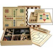 10 az 1 ben fa dobozos társasjáték gyűjtemény