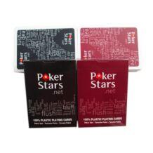 Poker Stars - plasztik pókerkártya