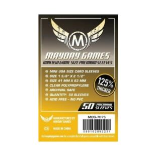 Kártyavédő tok - (50 db) - 41 mm x 63 mm - Mayday Games Prémium MDG-7075