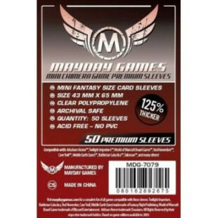 Kártyavédő tok - (50 db) - 43 mm x 65 mm - Mayday Games Prémium MDG-7079