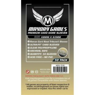 Kártyavédő tok - (50 db) - 49 mm x 93 mm - Mayday Games MDG-7138