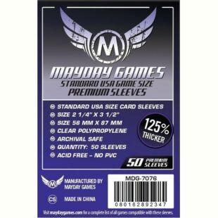 Kártyavédő tok - (50 db) - 56 mm x 87 mm - Mayday Games Prémium MDG-7076