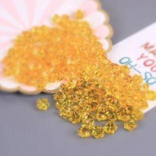Acryl kristály - halvány arany - /EV/