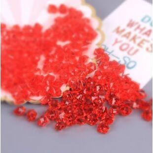 Acryl kristály - halvány piros - /EV/
