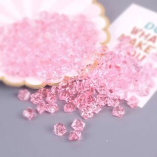 Acryl kristály - halvány rózsaszín - /EV/