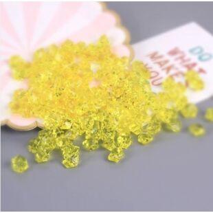 Acryl kristály - halvány sárga - /EV/