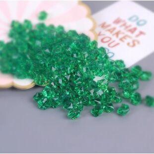 Acryl kristály - sötét zöld - /EV/