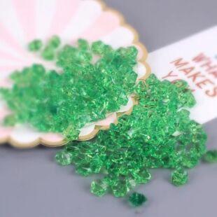 Acryl kristály - világos zöld - /EV/