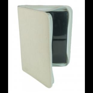 Card binder - kártya tartó mappa prémium cipzáras, fehér (4 kártyás) - /EV/