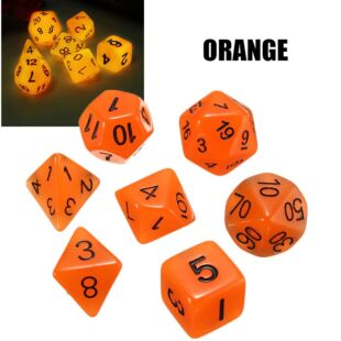 Dobókocka szett - narancs (világít a sötétben) - /EV/