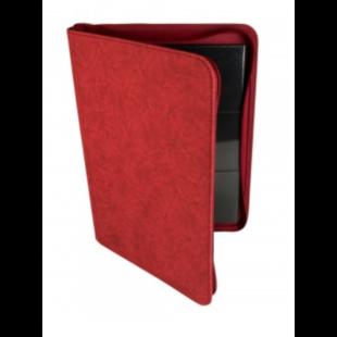 Card binder - kártya tartó mappa prémium cipzáras, piros (9 kártyás) - /EV/