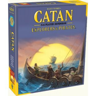 Catan Explorers and pirates 5-6 fős (fa darabos) kiegészítő, angol nyelven - /EV/