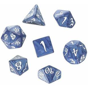 Dobókocka szett - Classic RPG - kobalt/fehér (7 darabos)