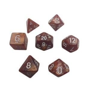 Dobókocka szett - márványos barna (7 darabos)