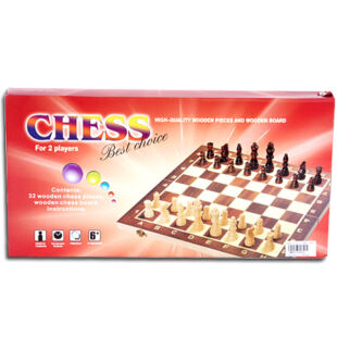 Fa sakk készlet (39,5 x 20,5 x 4 cm)