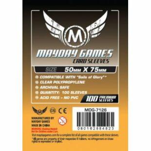 Kártyavédő tok - (100 db) - 50 mm x 75 mm - Mayday Games MDG-7126