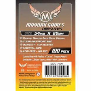 Kártyavédő tok - (100 db) - 54 x 80 mm - Mayday Games MDG-7109