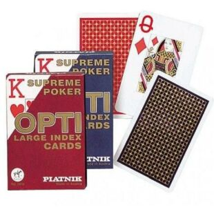 Kártya - OPTI Piatnik póker kártya (1*55 lap) - Piros - /EV/