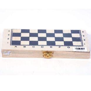 Fa sakk, összecsukható táblával (21 cm x 21 cm)