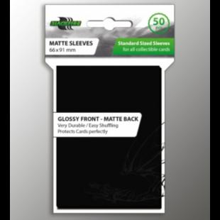 Blackfire standard fekete kártyavédő - 66 mm x 91 mm (50 db) - /EV/