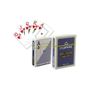 Kártya - COPAG - 100% Póker - plasztik pókerkártya, kék vagy piros - /EV/