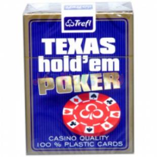 Kártya - Texas Hold'em 100% plaszik póker kártya (1*55 lap) - Kék - /EV/