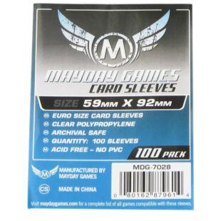 Kártyavédő tok - (100 db) - 59 mm x 92 mm - Mayday Games MDG-7029