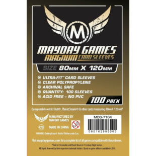 Kártyavédő tok - (100 db) - 80 x 120 mm - Mayday Games MDG-7146