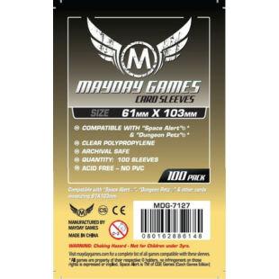Kártyavédő tok - (100 db) - 61 mm x 103 mm - Mayday Games MDG-7127