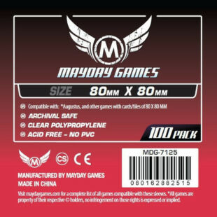Kártyavédő tok - (100 db) - 80 mm x 80 mm - Mayday Games MDG-7145