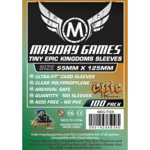 Kártyavédő tok - (100 db) - 88 mm x 125 mm - Mayday Games MDG-7129