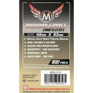 Kártyavédő tok - (100 db) - 49 mm x 93 mm - Mayday Games MDG-7112