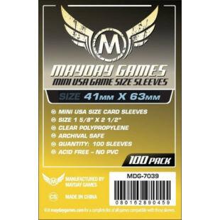 Kártyavédő tok - (100 db) - 41 mm x 63 mm - Mayday Games MDG-7075
