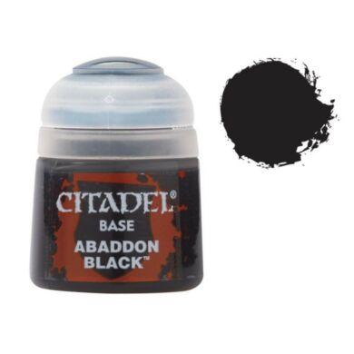 Citadel festék: Base - Abaddon Black