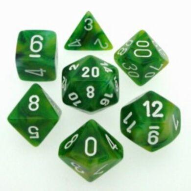 Dobókocka szett - márványzöld (7 darabos)