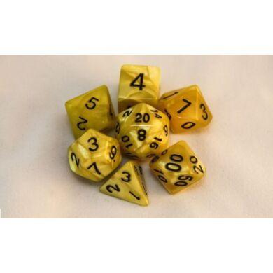 Dobókocka szett - márvány sárga (7 darabos)