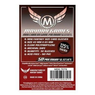 Kártyavédő tok (50 db) - 43 mm x 65 mm - Mayday Games