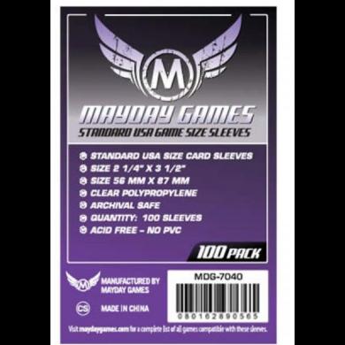 Kártyavédő tok (100 db) - 56 mm x 87 mm - Mayday Games