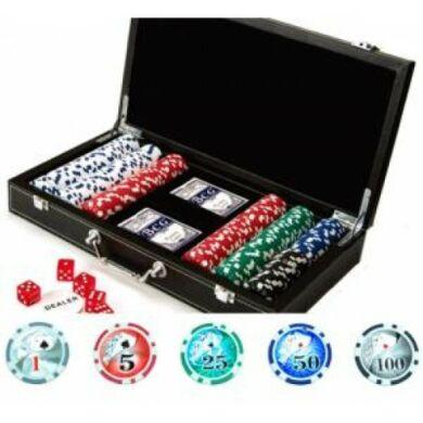 Texas Hold'em Deluxe póker szett (300 db-os)