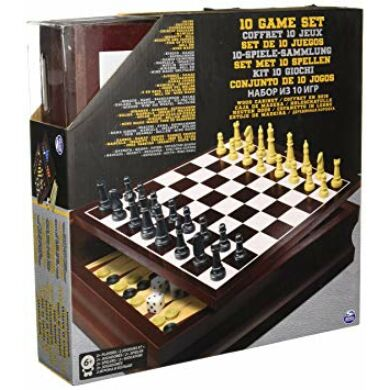 Classic wood family game set black and gold - /EV/