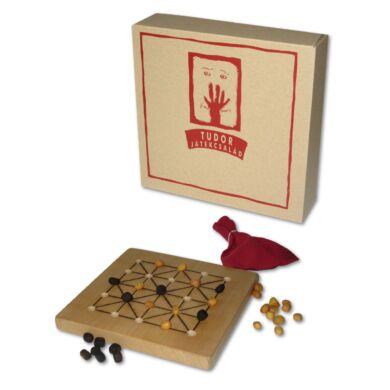 Fa táblás logikai játék - Tudor III. (Alquerque)