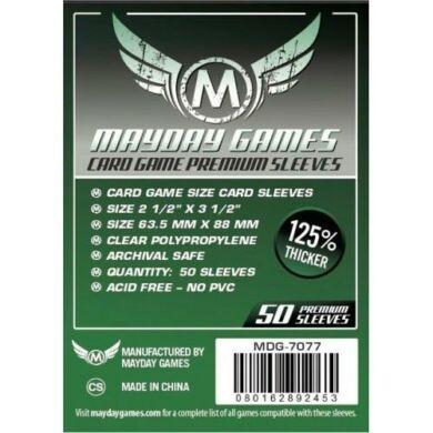 Kártyavédő tok (50 db) - 63,5 mm x 88 mm - Mayday Games