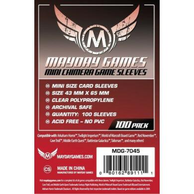 Kártyavédő tok (100 db) - 43 mm x 65 mm - Mayday Games