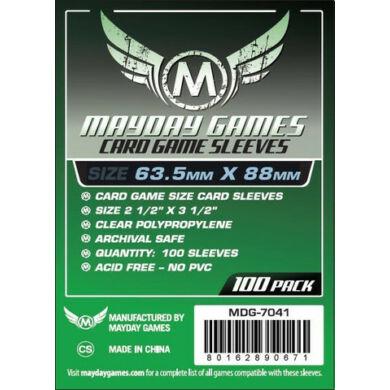 Kártyavédő tok (100 db) - 63,5 mm x 88 mm - Mayday Games