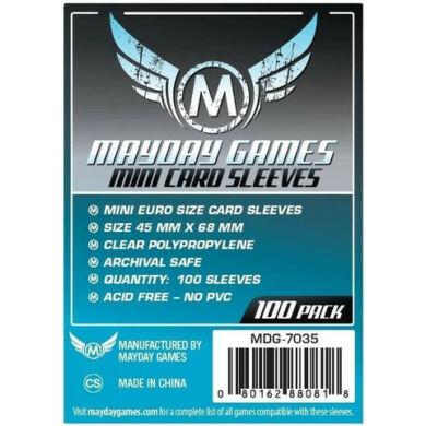 Kártyavédő tok (100 db) - 45 mm x 68 mm - Mayday Games