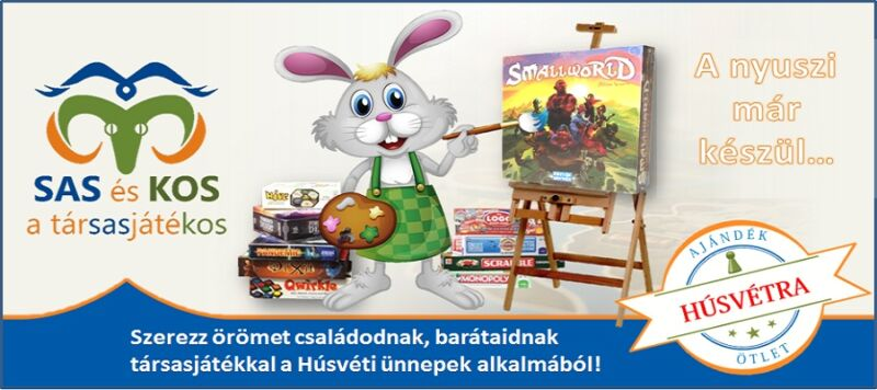 társasjátékos akció a SASés KOS webáruházban Húsvétra